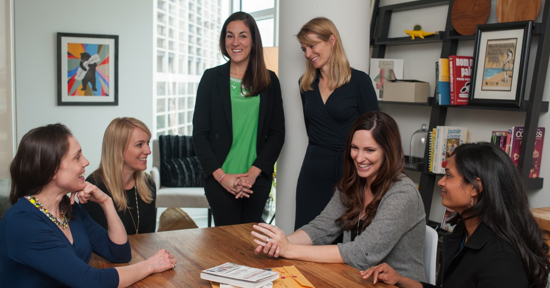 The founding partners of #Angels (L to R): Chloe Sladden, April Underwood, Jessica Verrilli, Katie Stanton, Jana Messerschmidt and Vijaya Gadde