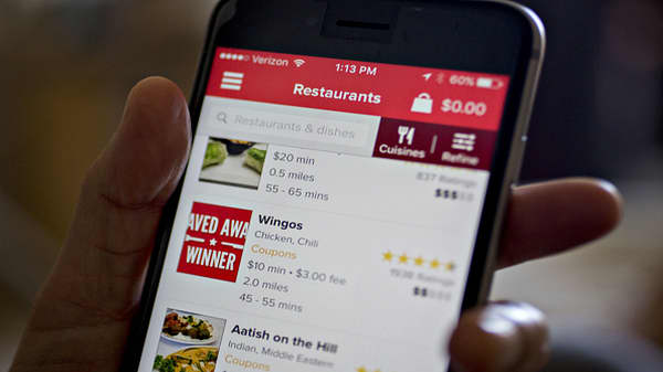 Food-delivery apps hit the big time