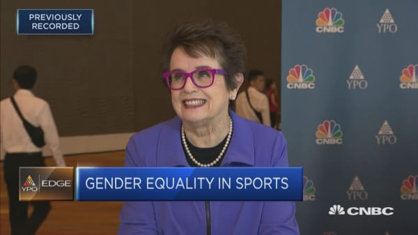 Billie Jean King talks about the market for women's sports