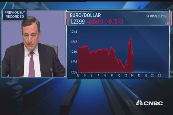 Draghi: I see two main risks today — trade and financial deregulation