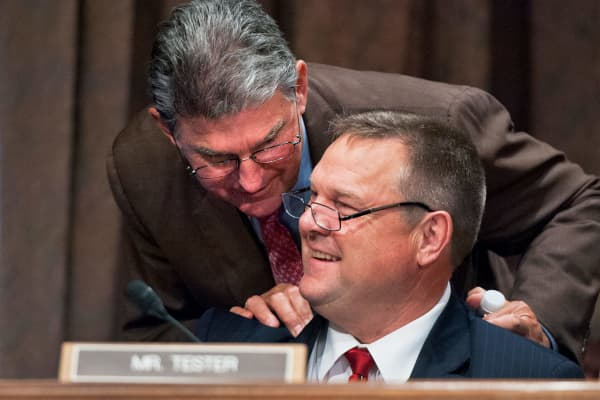 Sens. Jon Tester, D-Mont., and Joe Manchin, D-W.Va.