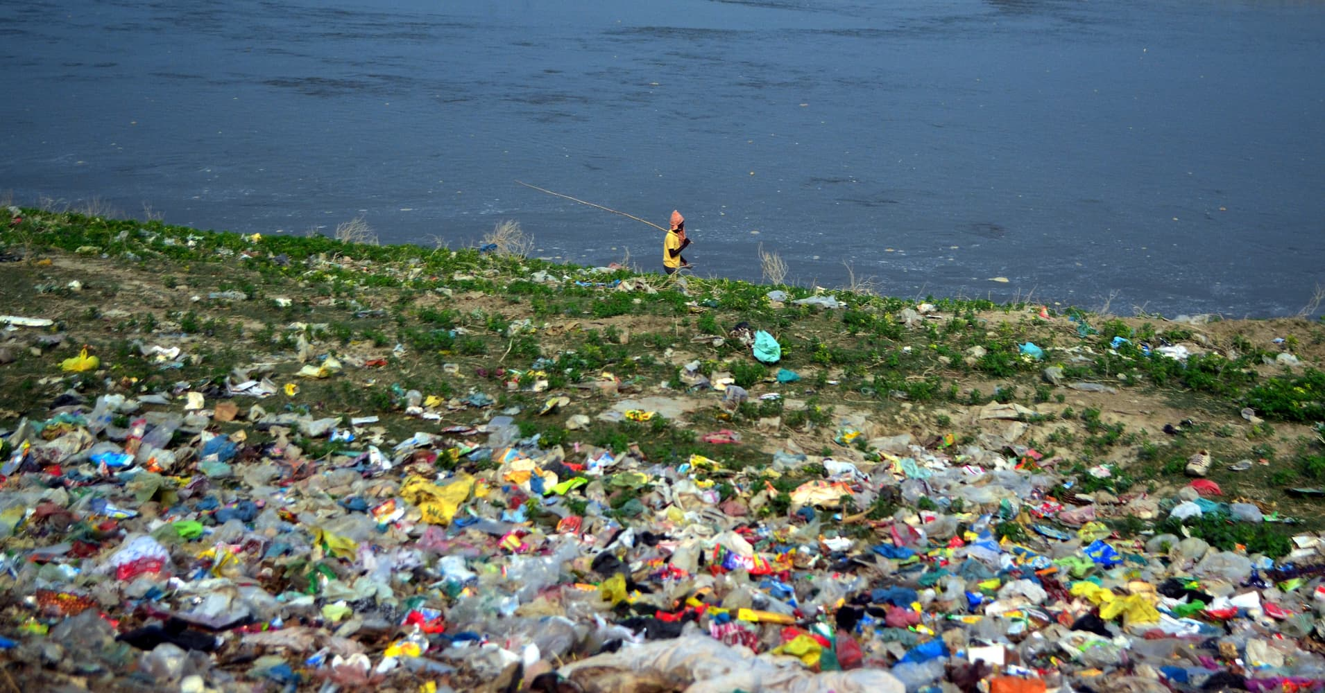 Image result for images of plastic bag pollution