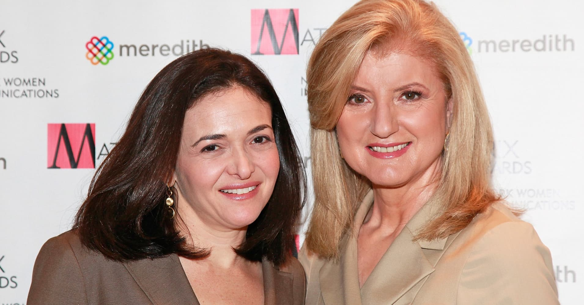 Facebook COO Sheryl Sandberg and Huffington Post Editor-In-Chief, Arianna Huffington attend the 2011 Matrix Awards.