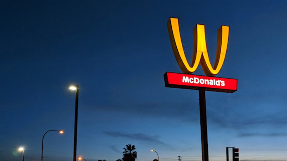 McDonald's is turning its golden arches upside down