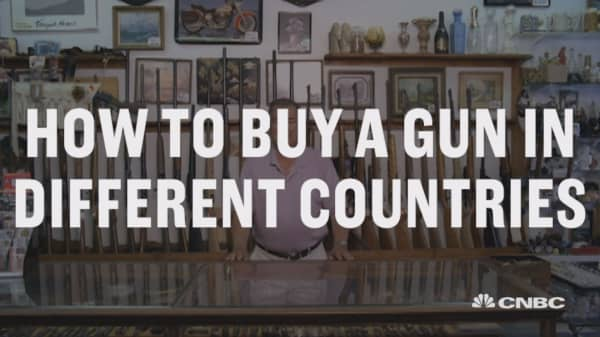 Here's how to buy a gun in these five countries