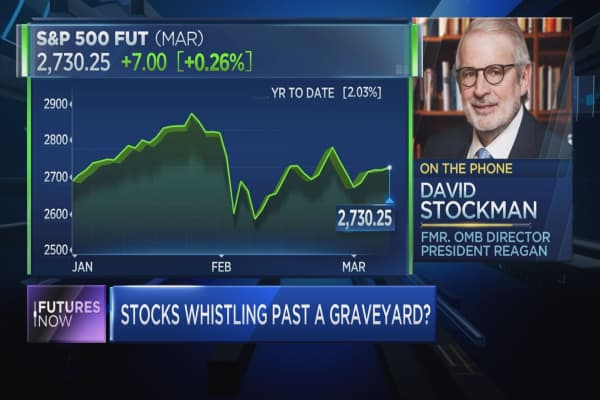'Market is whistling past the graveyard,' warns David Stockman