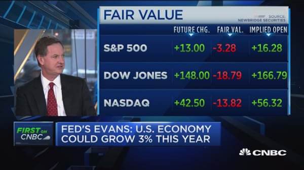 Fed's Evans: We may get 3% growth this year