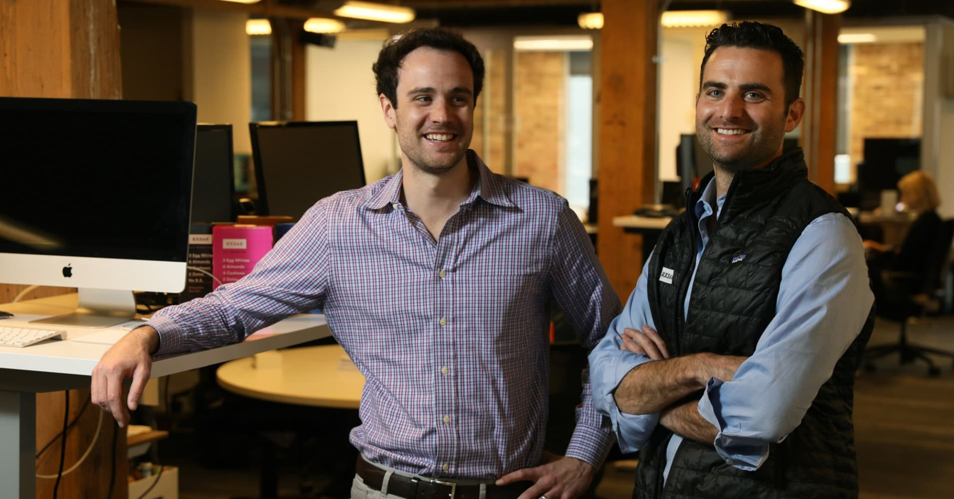 RXBAR co-founders Jared Smith (left) and Peter Rahal
