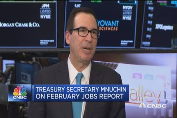 Treasury Sec. Mnuchin: Economy is not really at full employment yet