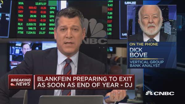 Goldman's Blankfein should leave immediately, says Dick Bove
