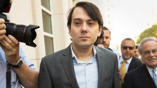 Ex-pharmaceutical executive Martin Shkreli arrives at the U.S. District Court for the Eastern District of New York last June.