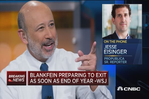 Blankfein's non-denial, denial on departure