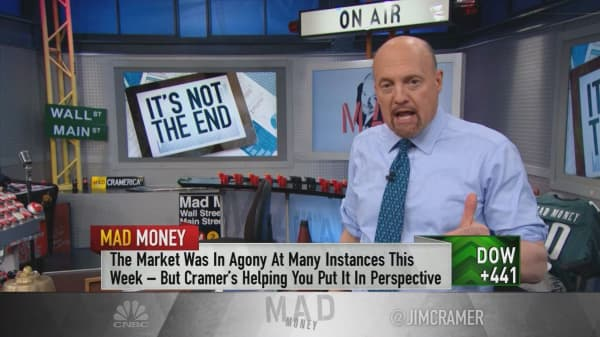 Cramer's game plan: Stop the hysteria and use weakness to buy