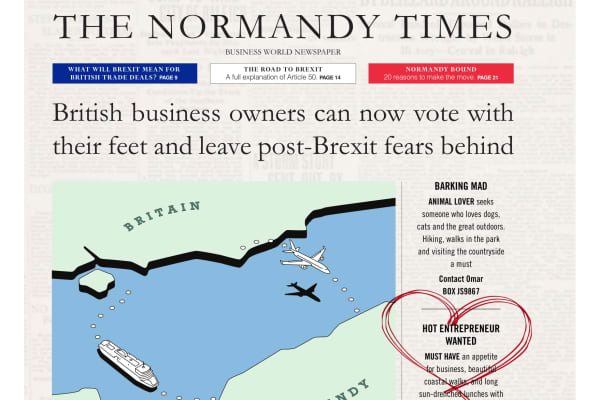 Normandy in France is urging British businesses to relocate after Brexit