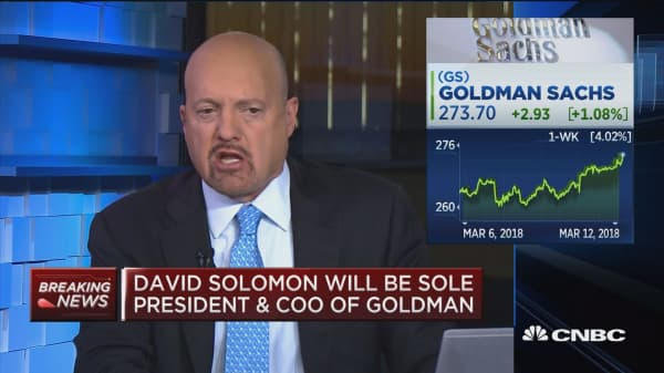 David Solomon's new role at Goldman is a 'chance to grow', says Jim Cramer