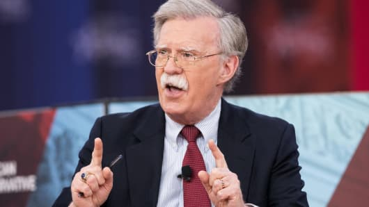 John Bolton, Former United States Ambassador to the United Nations, at the Conservative Political Action Conference (CPAC) held at the Gaylord National Resort & Convention Center in Oxon Hill, Maryland in February.