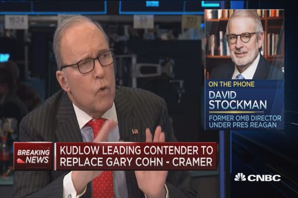 Kudlow was a major voice in policy formation in the early 1980's: David Stockman
