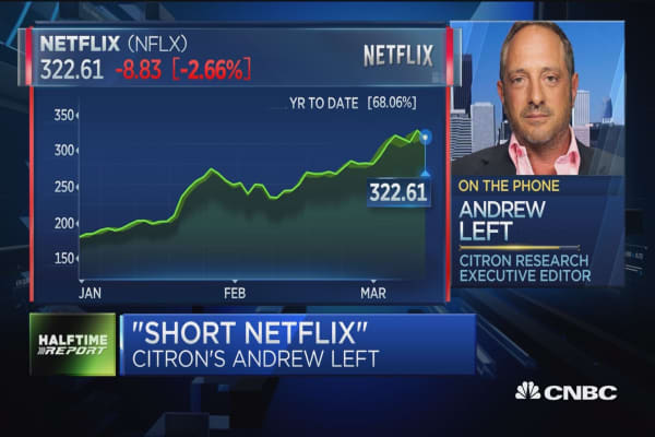 Netflix hits a record high