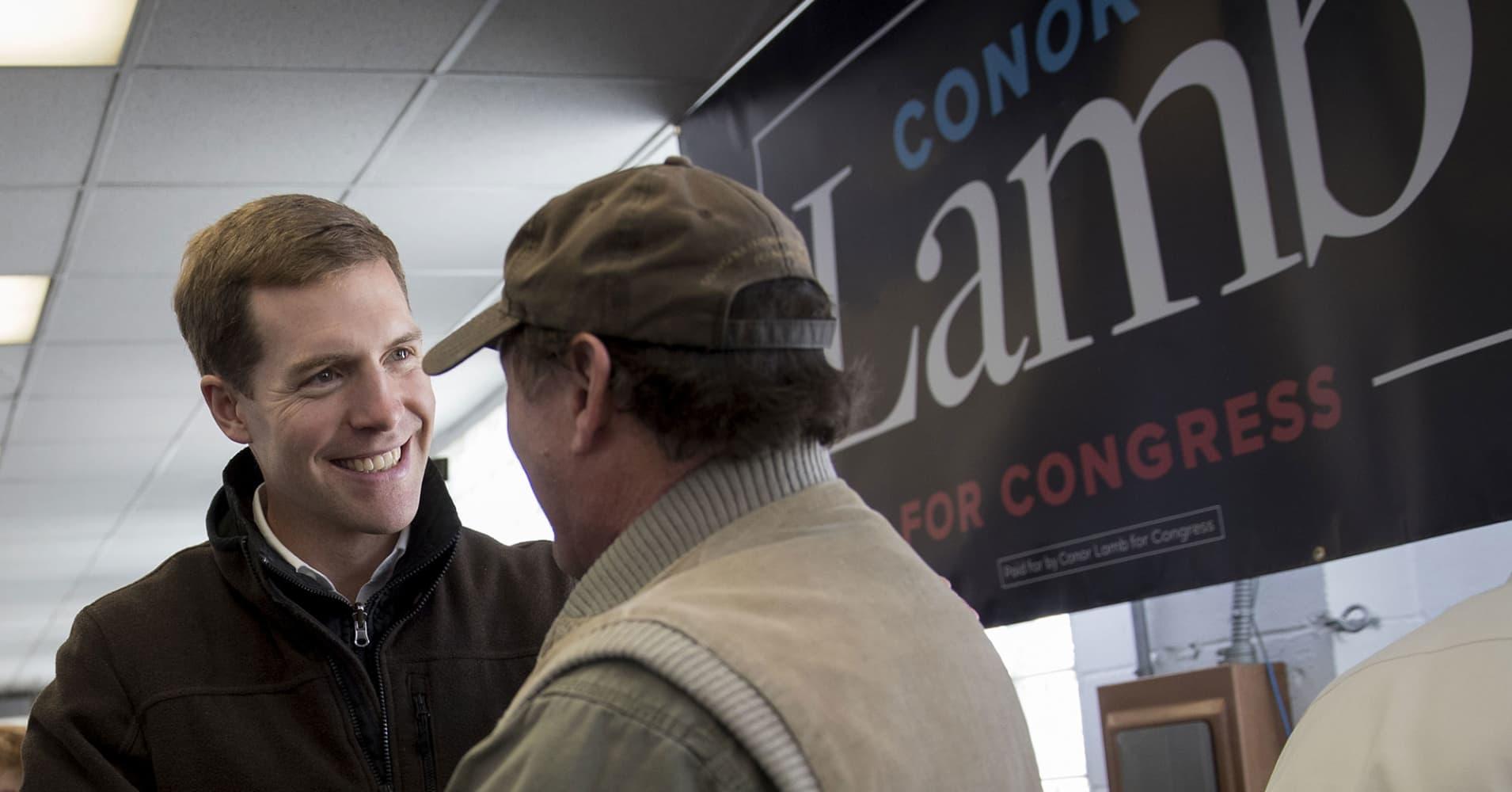 Democrat Conor Lamb seizes the lead in tight Pennsylvania special election, poll says