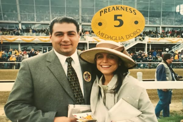 Bethenny Frankel and a friend at the track
