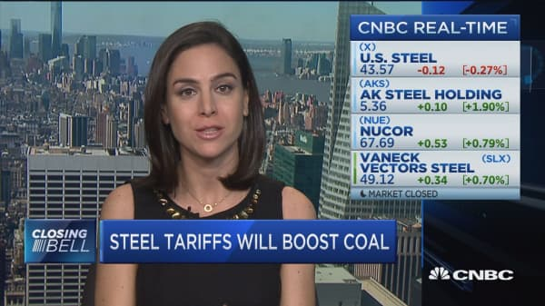 Steel tariffs to boost coal; China IP theft in focus