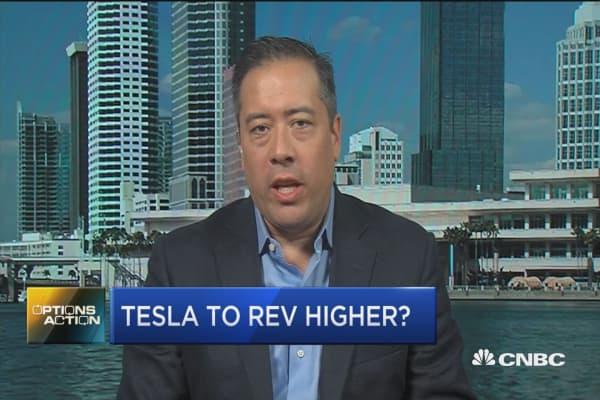Options traders betting on big Tesla rally