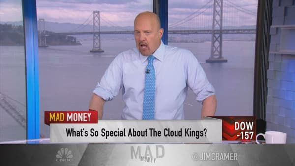 Cramer introduces tech's hottest new stock group: the 'cloud kings'
