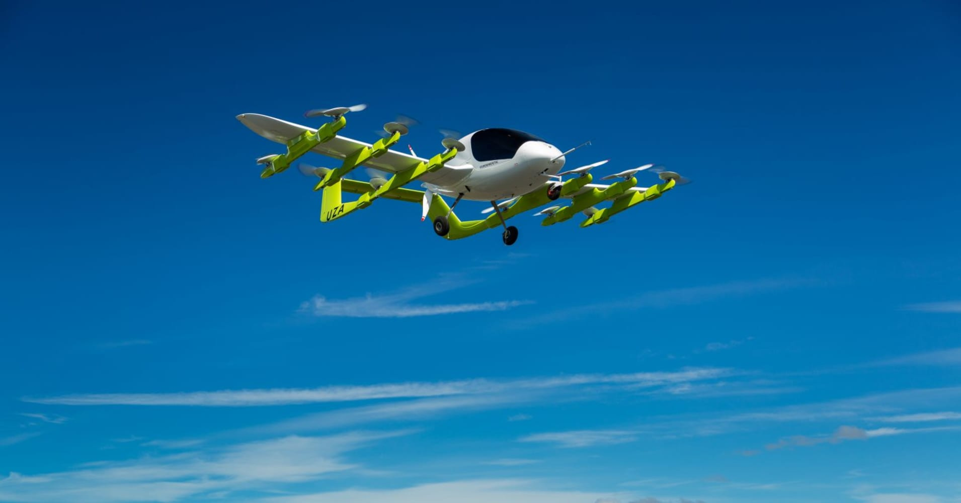 GOOGLE founder flying taxi takes to skies