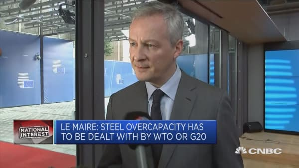 Steel overcapacity must be deal with within WTO or G20 framework: France's Le Maire