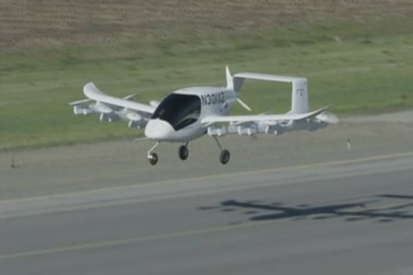 Larry Page-backed firm unveils flying car,