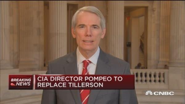Rep. Rob Portman: Tillerson's departure doesn't surprise me