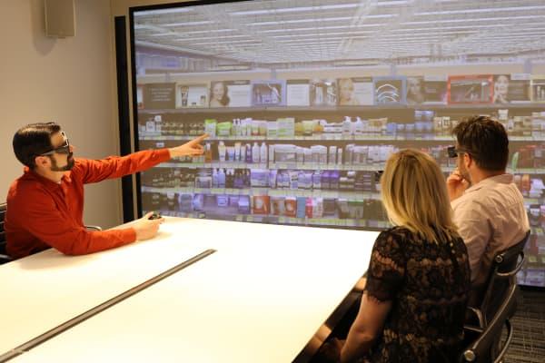 L'Oreal USA's company VR room at 10 Hudson Yards, Manhattan
