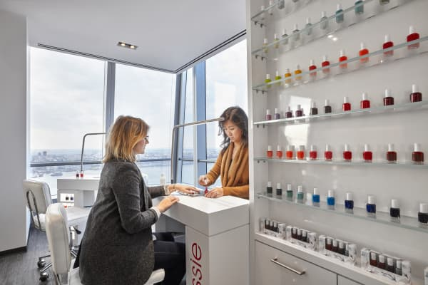 L'Oreal USA's company nail salon at 10 Hudson Yards, Manhattan