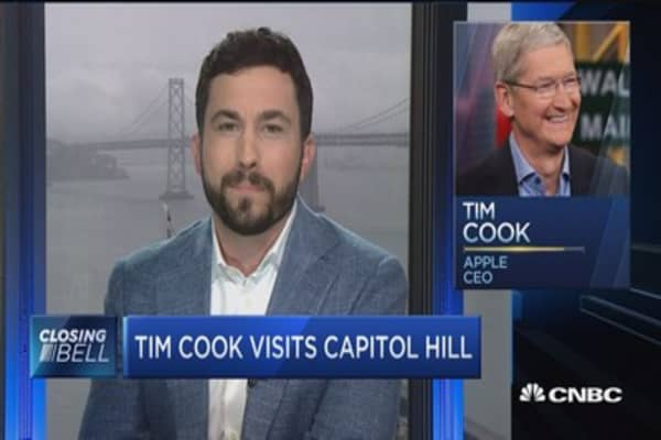 Tim Cook visits Capitol Hill