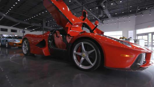 La Ferrari on floor