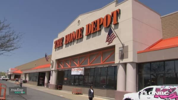 Lagging Dow stock Home Depot, in a correction, could run into more trouble