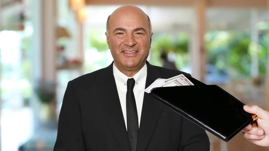 Kevin O'Leary shares his No.1 trick for tipping at a restaurant