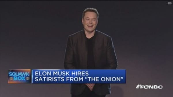 Elon Musk hires satirists from 'The Onion'