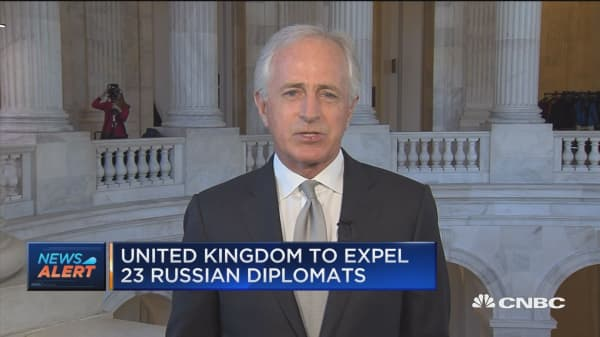 Sen. Corker: Glad UK taking action against Russia