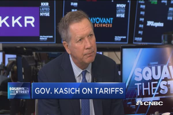 Gov John Kasich slams Trump's steel and aluminum tariffs
