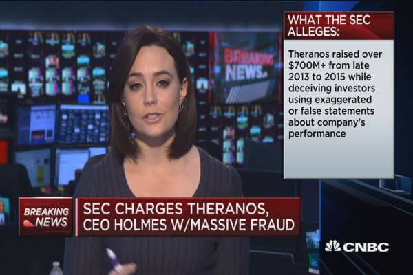 Theranos CEO Holmes settles with SEC fraud charges