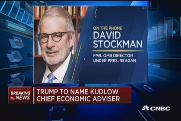 Larry Kudlow is walking into an impossible mission says his former boss