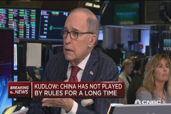 Kudlow: China has not played by rules for a long time