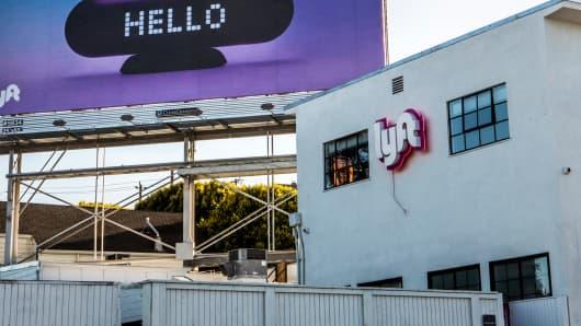 A Lyft driver hub in San Francisco.