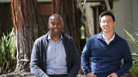 SambaNova Systems cofounders Kunle Olukotun, left, and Rodrigo Liang.
