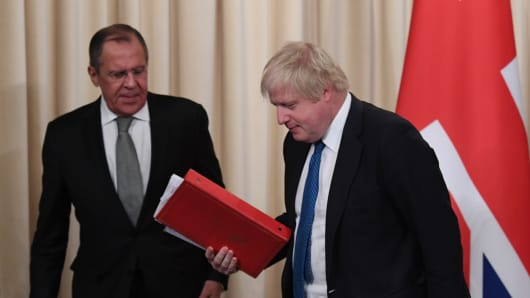 Image result for Boris Johnson tough on Putin