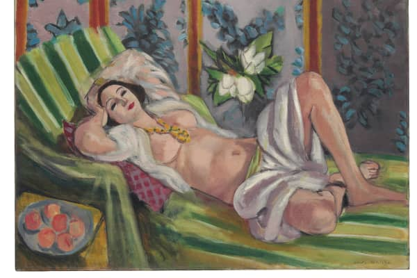 """Odalisque Lying with Magnolias"" by Henri Matisse"