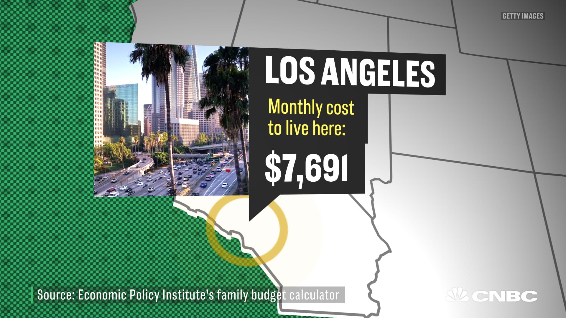 how much a 4 person family needs to live in the 15 biggest us cities