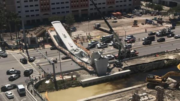 Bridge collapse at Florida International University, March 15, 2018.