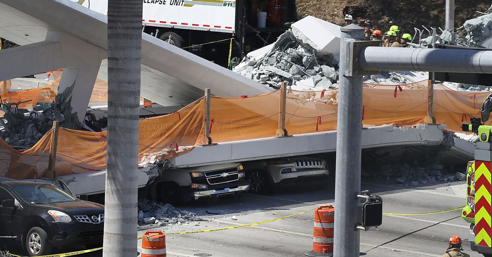 The bridge that collapsed near a Florida university was installed in a single morning